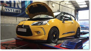 Citroen DS3 on Dyno Dynamics Rolling Road Hinckley Leicestershire